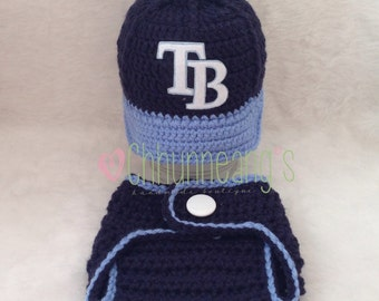 Baby Baseball Cap, Hat, Rays inspired, Made to Order