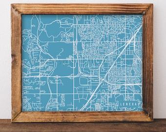 Kansas street map Etsy