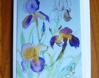 Greeting Card Iris