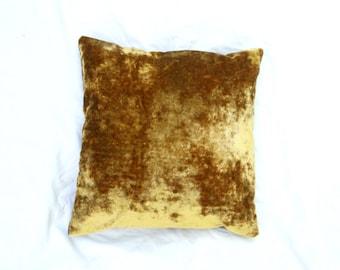 Gold Crushed Velvet Pillow // Accent Pillow // Boho Decor