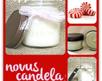 peppermint candle, valentines day gifts for women, soy candles handmade, gift for her, mason jar candles, gifts for girls  for mom or sister