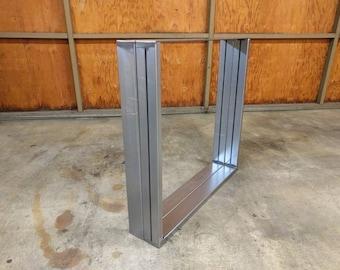 Steel dining table leg set