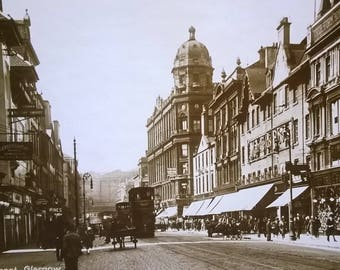 A  photograph of Argyle Street Glasgow.