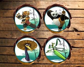Kung Fu Panda Edible Cupcake Toppers