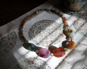 Vintage Multi Color Beaded Necklace