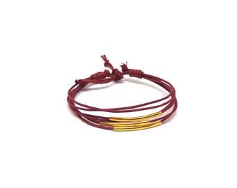 Bracelet femme bordeaux