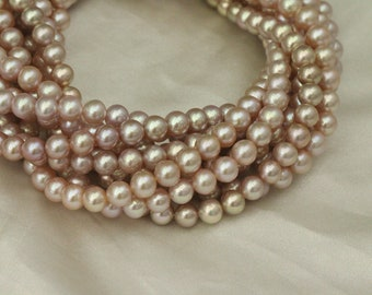 7-8mm natural purple pearl strings,round pearl necklace,high luster pearl beads,fresh water pearl.