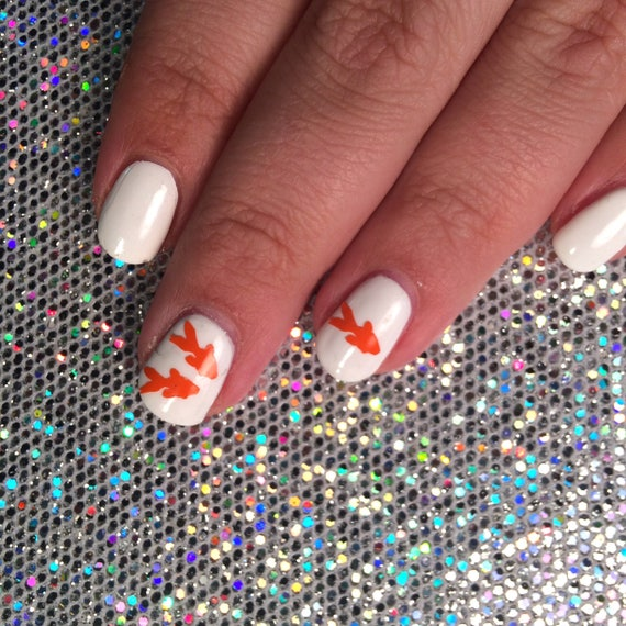 30 goldfish vinyl Nail decals for fish, water, ocean, and japanese ...