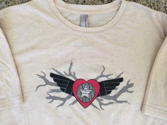 Joshua Tree Music Festival Fall 2014 Short Sleeve Souvenir T-shirt, Concert Band Tour Shirt, Desert Chic Size XL Extra Large Unisex, Tan