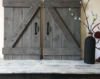 Captivating BARN DOOR DECOR, Set Of 2 (large), Rustic Barn Door, Barn