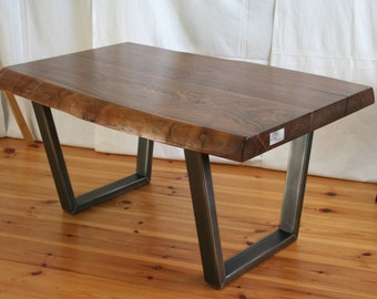 "noble coffee table ""Black Walnut"" Walnut/steel"