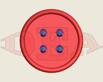 Button (Applique) - Instant Download Machine Embroidery Design