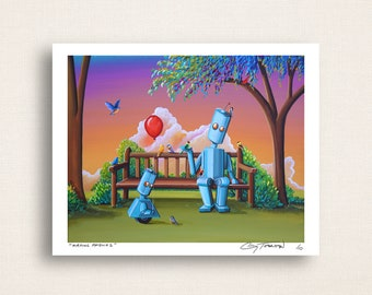 Making Friends - robots feeding birds in central park -Limited Edition Signed 8x10 Semi Gloss Print (3/10)