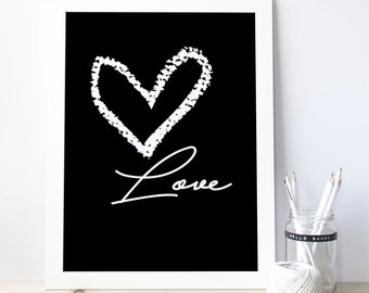 Love poster, Love Wall Decor, All You Need Is Love, Love Printable, Love Design, Valentine Gift, Gift For Her, Quote Poster 0071