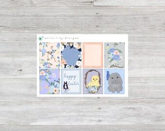 Hoppy Easter ~ Full Boxes ~ Planner Stickers for Erin Condren Life Planner
