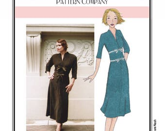 Sew Chic Vintage Style Dress Pattern Constance Empire Waist Dress #LN8404