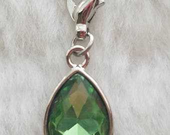 Peridot Birthstone Charm - Clip-On - Ready to Wear