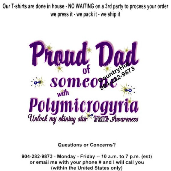 T shirt polymicrogyria pmg awareness proud dad like this item m4hsunfo Gallery