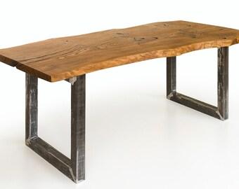 Industrial Single Oak Plank Dining table
