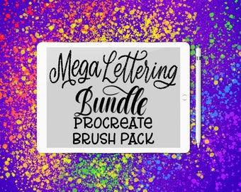 35 Procreate Lettering Brushes Mega Brush Bundle