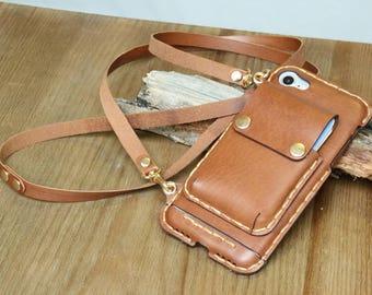 iPhone 8 case leather wallet iphone 8 plus case handmade iphone X case iphone X plus case iphone case iPhone 8 crossbody case iPhone 8 Plus