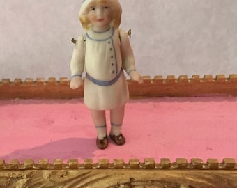 Darling little Sailor Girl bisque doll artist made