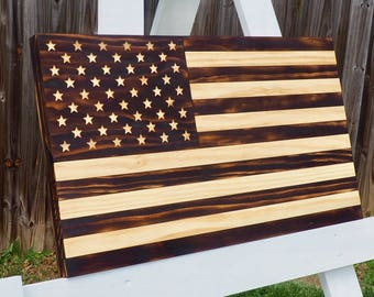 Rustic American Flag, Rustic Flag, American Flag, Wood American Flag, Wooden American Flag, Wood Flag, Burned Flag, Charred Flag