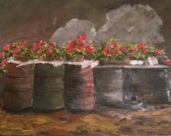 bins in bloom
