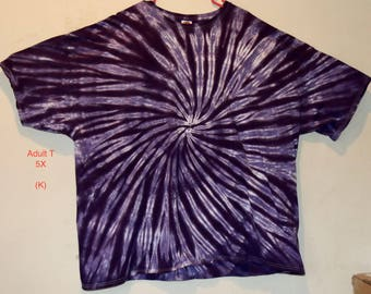 Adult 5X TieDye T-Shirt, Purples/2 (H/K)