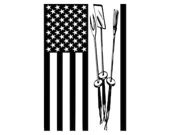 Digi-tizers BBQ Tools American Flag (SVG Studio V3 JPG)