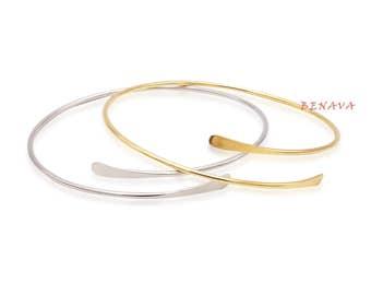 Bangle Bracelet gold silver ladies gift