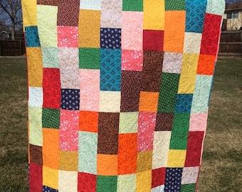 Multicolor Patchwork Cotton Calico Quilt