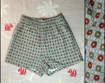 Rare ~ Original ~ 1950'S ~ White Shorts ~ Swim and Play ~ McGregor ~ USA ~ Self Belt ~ Vintage ~ Don't Miss Out on These!!! SNATb