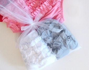 Ruffled Diaper Cover, Ruffled Bloomers, Baby Girl Gift, Shower Gift,  Baby Bundle