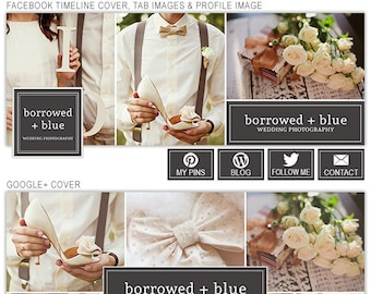 Social Media Cover Templates, Facebook Timeline Cover Template, Google Plus Cover Template, Twitter Cover Template for Photographers SMS102