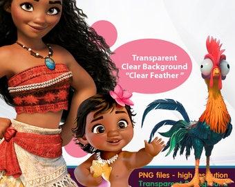 Moana clipart -  Digital 300 DPI PNG Images, Photos, Scrapbook, Cliparts - Instant Download
