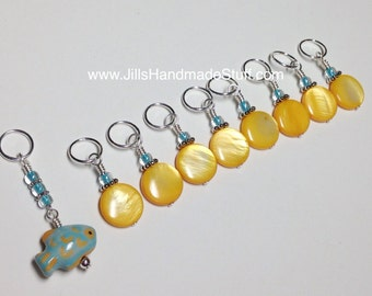 Tropical Fish Stitch Markers | Snag Free Gift for Knitters | Knitting Jewelry