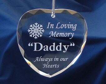 In Loving Memory Heart Ornament/Suncatcher