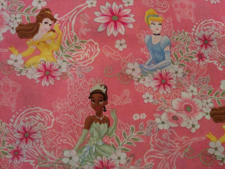 Disney Princess Belle Cinderella Tiana Fat Quarter Fabric
