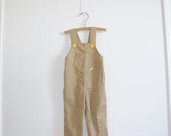 Vintage Tan Baby Overalls