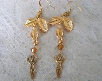 Goddess Earrings, wiccan jewelry pagan jewelry wicca jewelry goddess jewelry witch witchcraft metaphysical magic handfasting