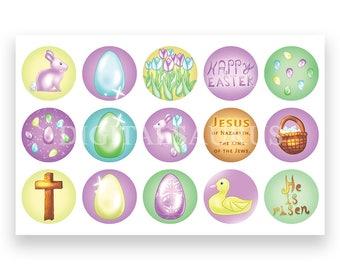 Easter Bottle Cap Images Collage Sheet Download