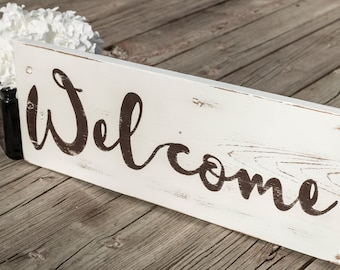 Welcome Sign, Wood Signs, Reclaimed Wood, Home, House Warming, Wall Decor, Rustic Decor, Wood Sign, Gift