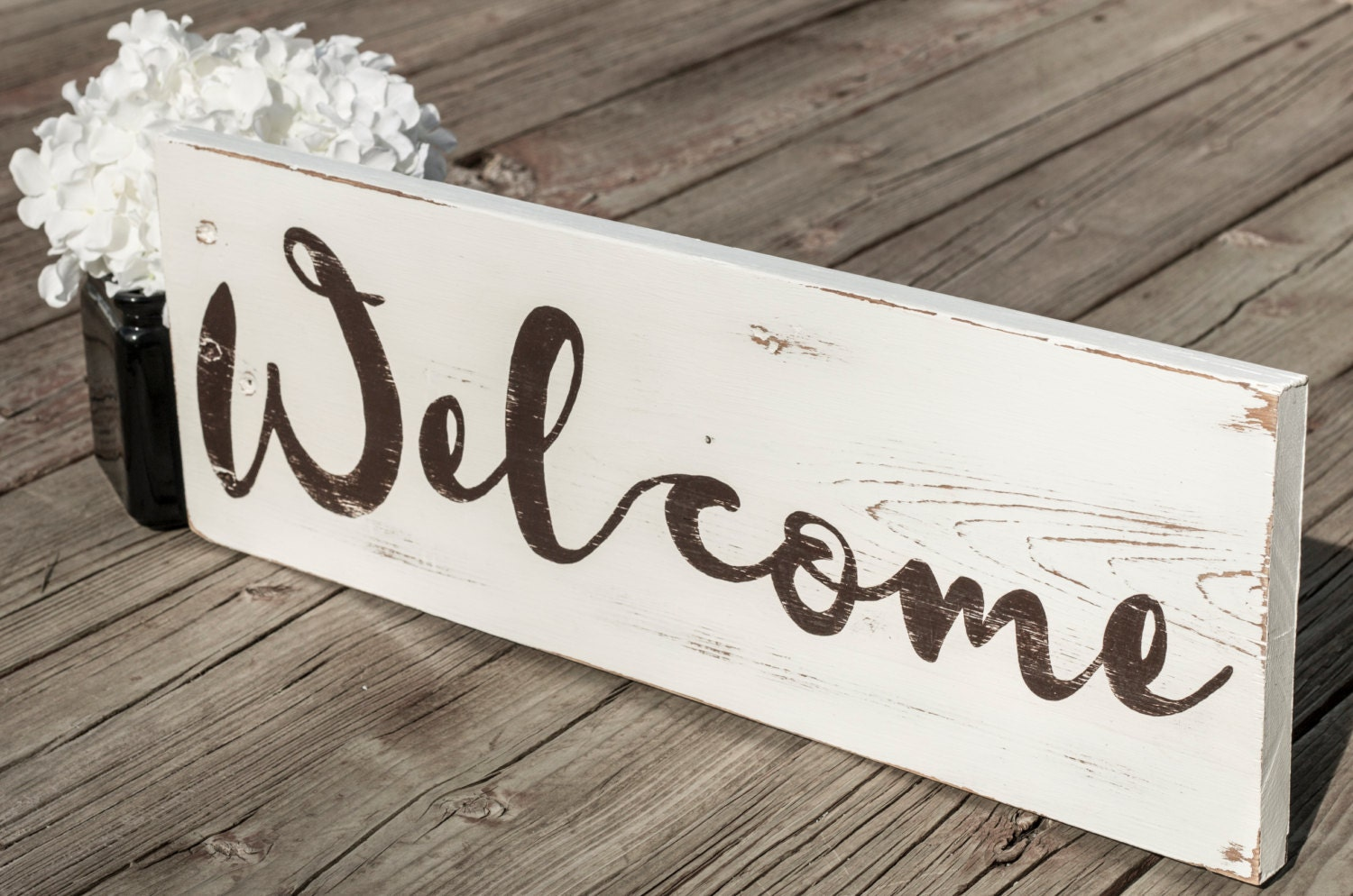 Welcome Sign Wood Signs Reclaimed Wood Home House Warming