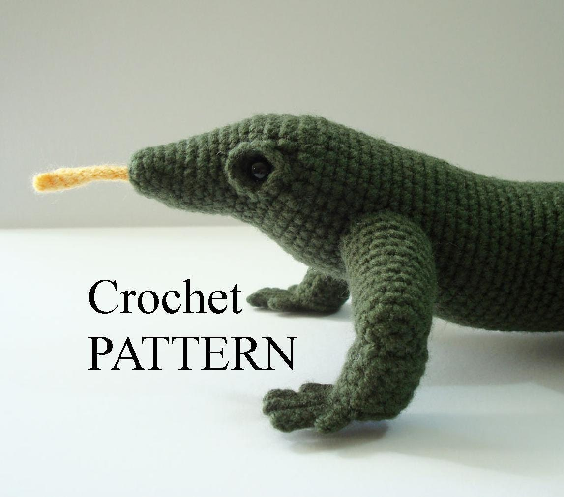 Komodo Dragon Crochet Pattern Amigurumi Komodo Dragon Stuffed Komodo ...