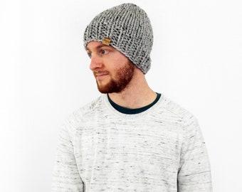 Mens Hat Beanie, Unisex Knit Slouchy Beanie Grey- Hartford Hat