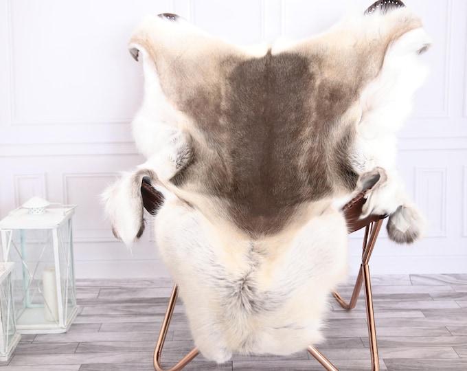 Reindeer Hide | Reindeer Rug | Reindeer Skin | Throw XL LARGE - Scandinavian Style #0RE8