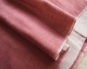 Japanese fabric, double gauze, red, Heather, both sides
