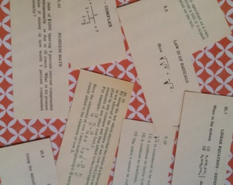 2 Dozen Vintage Algebra Flash Cards