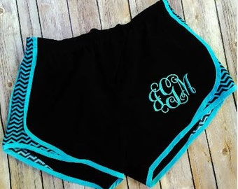 Youth Monogrammed Athletic Shorts, personalized youth gym shorts, Monogram running shorts, cheer, gymnastics, gym class